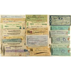 Foreign Checks & Exchanges with Revenue Stamps
