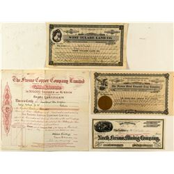 Fresno Mining and Non-Mining Stock Certificates