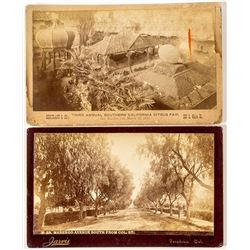 Two Cabinet Cards, Southern California