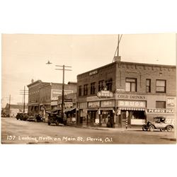 Main Street Perris Photo Postcard