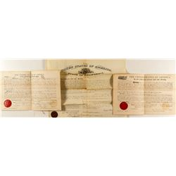 Three Placer County Land Patents
