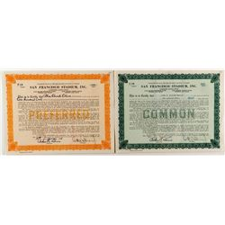 San Francisco Stadium Stock Certificates