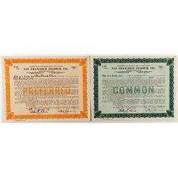 San Francisco Stadium Stock Certificates