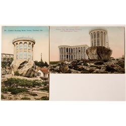 Two Hand Colored c1910 Truckee Postcards of the McGlashin Rocking Stone