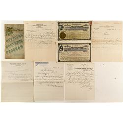 Tulare County Ephemera (Stocks, Letterheads, Program)