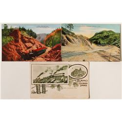 Colorado Springs Railroad Postcards