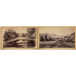 Two choice c1890 Colorado Springs Photographs
