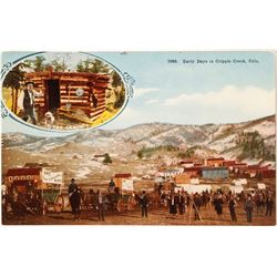 Early Days in Cripple Creek Postcard