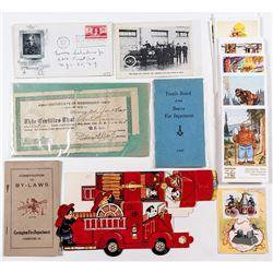 Fire Department Ephemera
