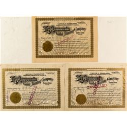 Three Cripple Creek Mining Stocks signed by David Moffat