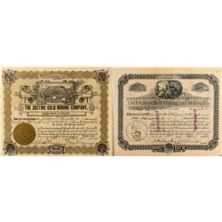 Two pre-1900 Cripple Creek Mining Stock Certificates