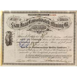 San Juan Consolidated Mining Company Stock Certificate