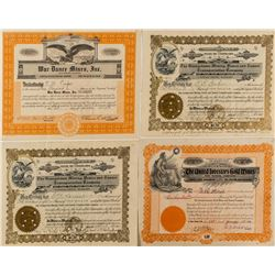 Georgetown Mining Stock Certificates (4)