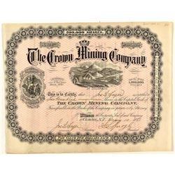 The Crown Mining Company Stock Certificate