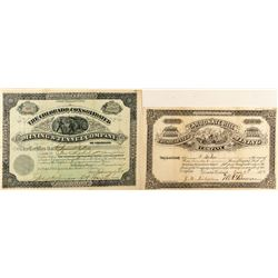 Choice Pair of Leadville Mining Stock Certificates