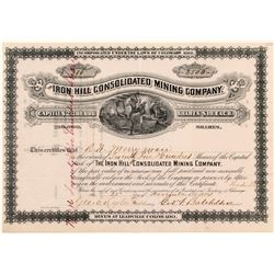 Iron Hill Consolidated Mining Company Stock Certificate