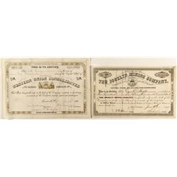 Pair of Choice Leadville Mining Stock Certificates