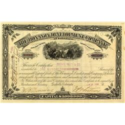 The Bonanza Development Company of Colorado Stock Certificate