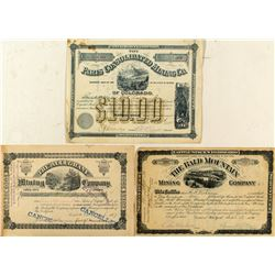 Three Different Leadville Mining Stock Certificates