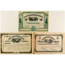 Three Leadville Mining Stock Certificates
