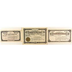 Colorado Mining Leasing Company Stock Certificates