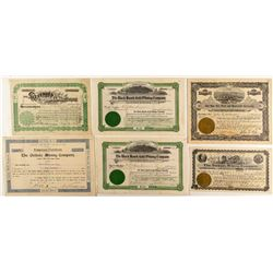 Colorado Mining Stock Certificates (Black Hawk, Leadville, Park County, Etc)