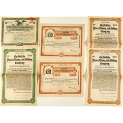 Colorado Placer Gold Mining Bonds & Stock Certificates