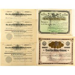 Coin Related Gold Mining Stock Certificates