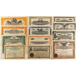 Another Twelve Different Idaho Mining Stock Certificates