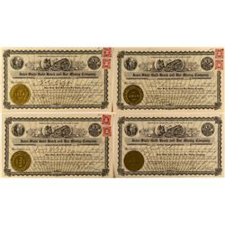 Inter-State Gold Beach and Bar Mining Company Stock Certificates (4)