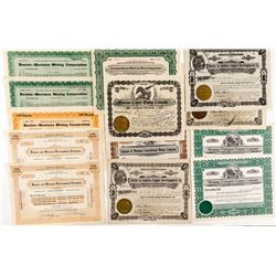 Montana Copper Mining Stock Certificates (Mostly Butte)