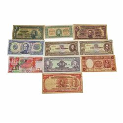 Lot of (10) Assorted South America Notes