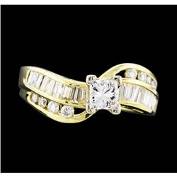 14KT Yellow Gold 1.15ctw Diamond Ring