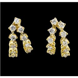 18KT Yellow Gold 0.80ctw Diamond Earrings