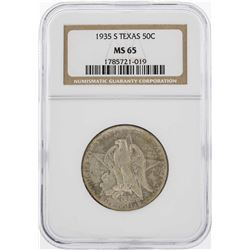 1935-S Texas Half Dollar Coin NGC MS65