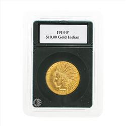 1914-P $10 Indian Head Eagle Gold Coin