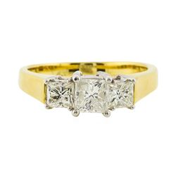 18KT Two Tone Gold 1.36ctw Diamond Ring