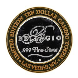 .999 Silver Bellagio Las Vegas Nevada $10 Casino Limited Edition Gaming Token