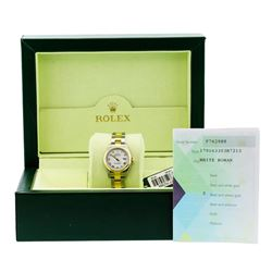 Rolex Ladies 18KT Two Tone Gold Datejust Wristwatch