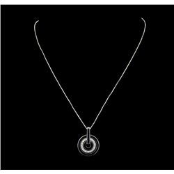 14K White Gold 0.30ctw Diamond Pendant with Chain
