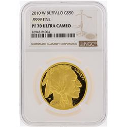 2010-W $50 American Buffalo Gold Coin NGC Graded PF70 Ultra Cameo