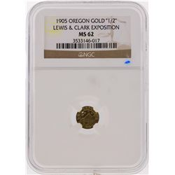 1905 1/2 Lewis & Clark Exposition Gold Coin NGC Graded MS62