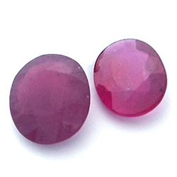 8.35ctw Oval Mixed Ruby Parcel