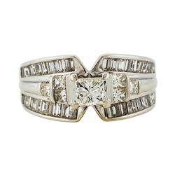 14KT White Gold 2.50ctw Diamond Ring