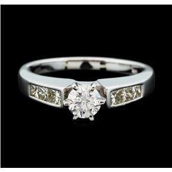 14KT White Gold 1.03ctw Diamond Ring