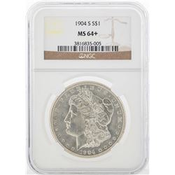 1904-S $1 Morgan Silver Dollar Coin NGC MS64+