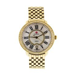 Michele Sereign 12 Diamond Gold Plated Wristwatch