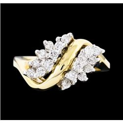 14KT Two Tone Gold 0.70ctw Diamond Ring