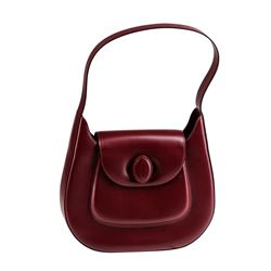 NWB Cartier Bordeaux Red Shoulder Bag with Box
