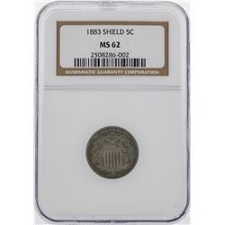 1883 Shield 5 Cent Coin NGC MS62